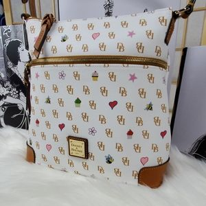 NWT Dooney & Burke White Printed Crossbody
